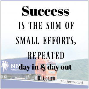 """Success is the sum of small efforts – repeated day in and day out."" – Robert Collier"
